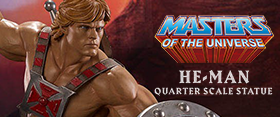 MASTERS OF THE UNIVERSE 1/4 STATUES
