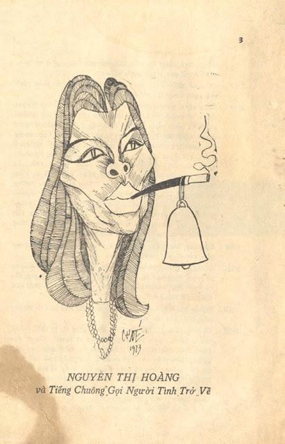 Nhà văn Nguyễn Thị Hoàng dưới mắt họa sĩ Chóe