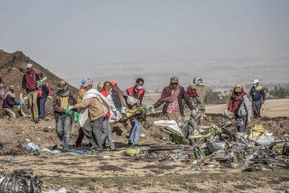 El accidente de Ethiopian Airlines (Mulugeta Ayene/Associated Press)