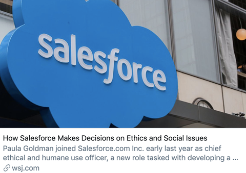 Salesforce Chief Ethical and Humane Use Officer
