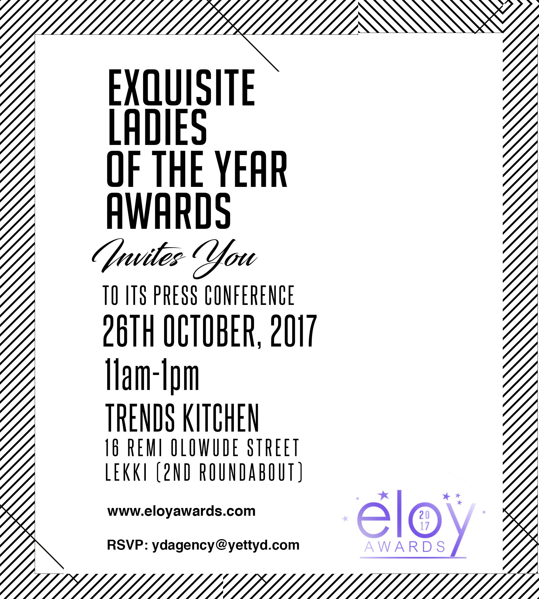 Invitation to eloy awards 2017 press conference ydagency stopboris Gallery