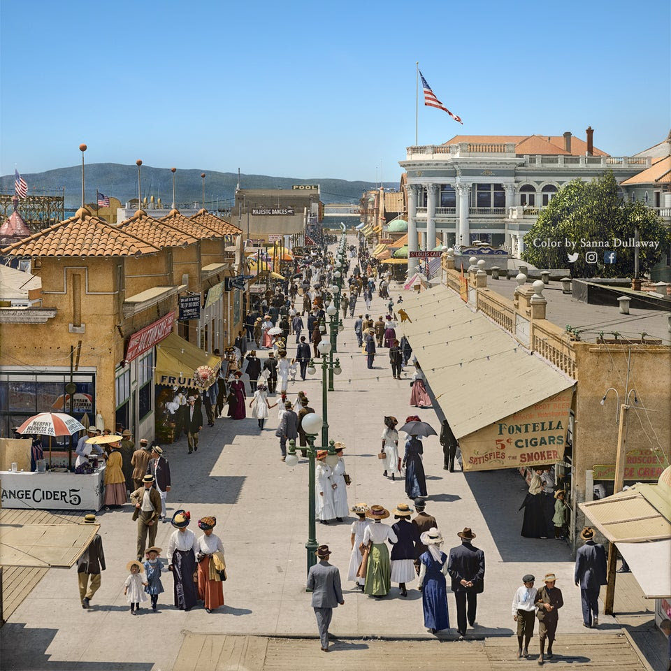 r/LosAngeles - Long Beach, Los Angeles in the year 1910 (colorized)