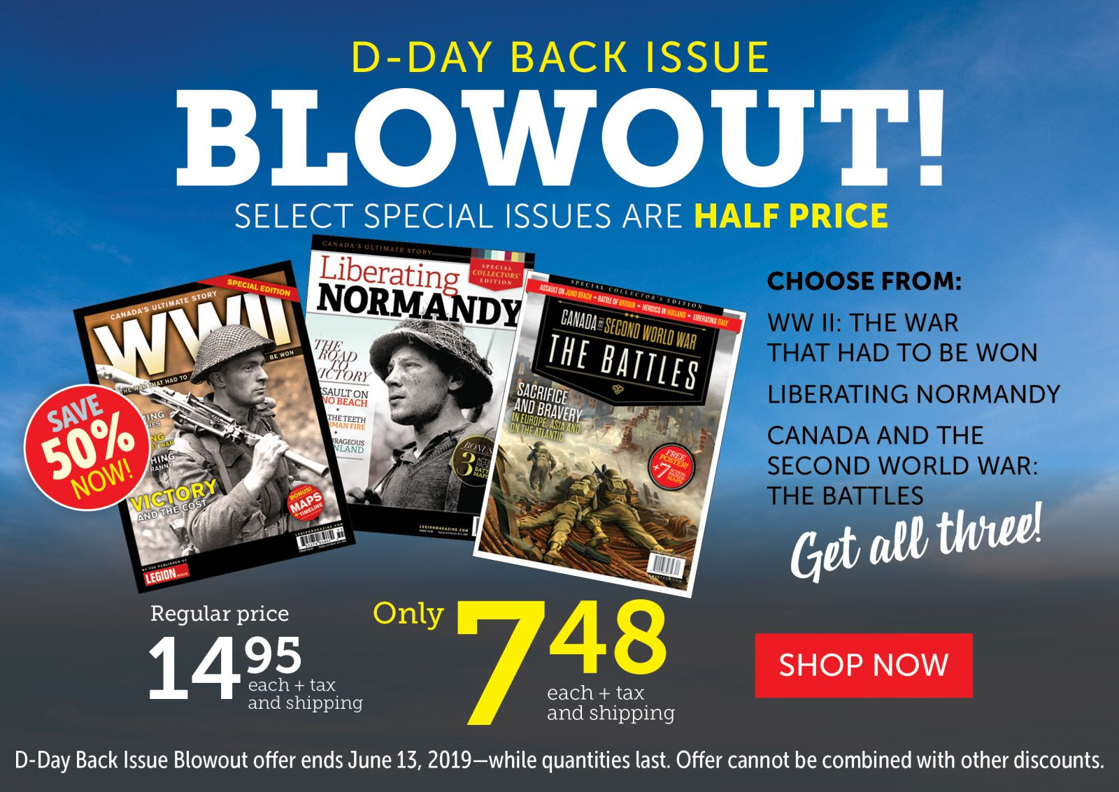 50% OFF D-DAY SPECIAL ISSUES!