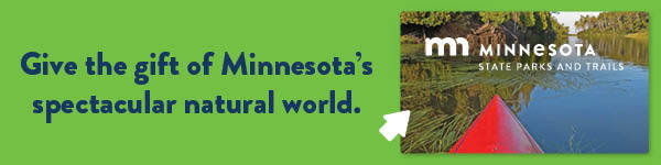 Ad encouraging you to purchase a MN DNR State Parks and Trails gift card