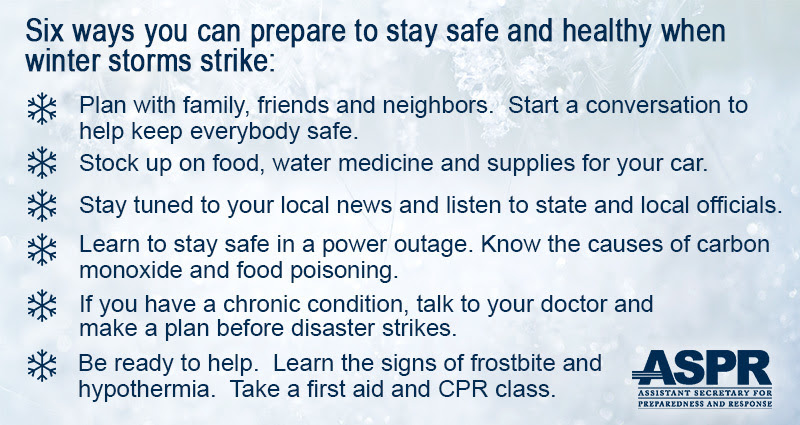 6 Ways You Can Prepare to Stay Safe and Healthy When Winter Storms Strike