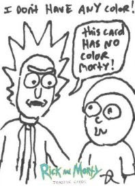 Rick and Morty Trading Cards Season 2 - Justin Roiland Sketch Cards