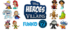 DISNEY/PIXAR HEROES VS VILLAINS MYSTERY MINIS