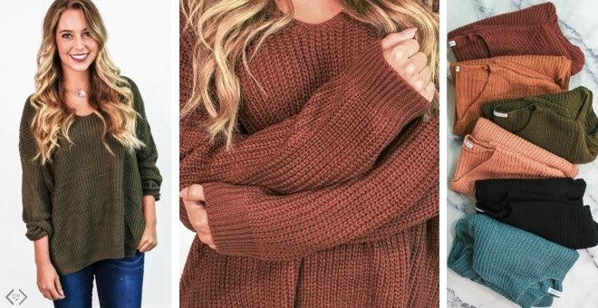 HOT!! Oversized Chunky Knit Sweater!