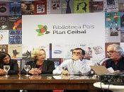 Autoridades del Plan Ceibal inauguran la biblioteca virtual en Uruguay.