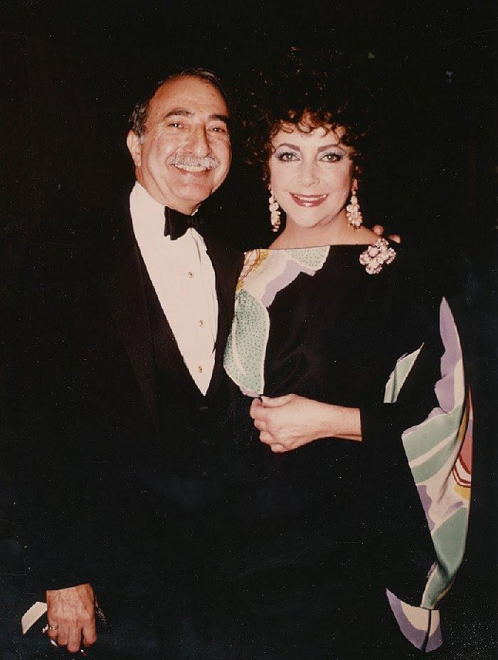 Charlie with Elizabeth Taylor