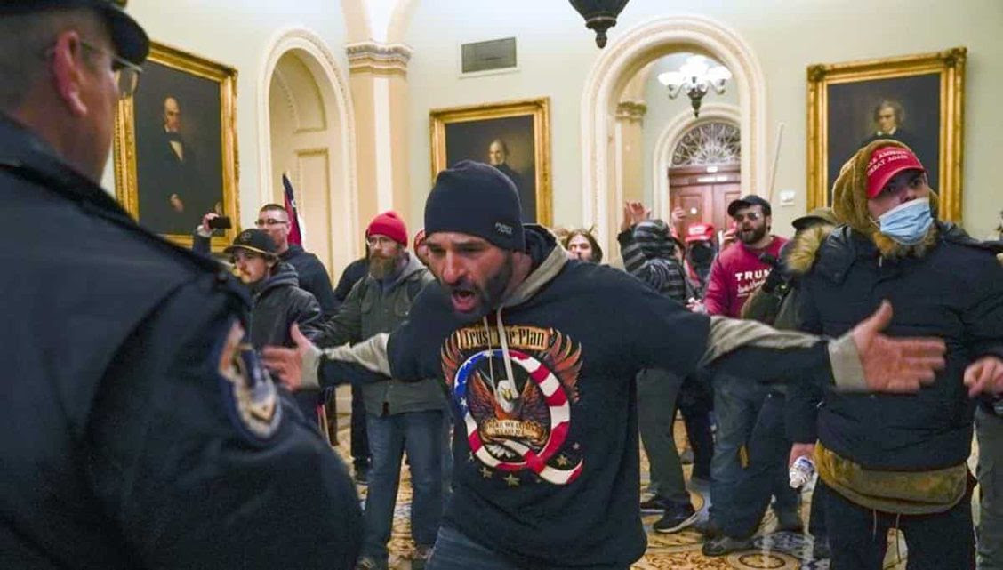 MAGA thugs proudly rampage through US Capitol