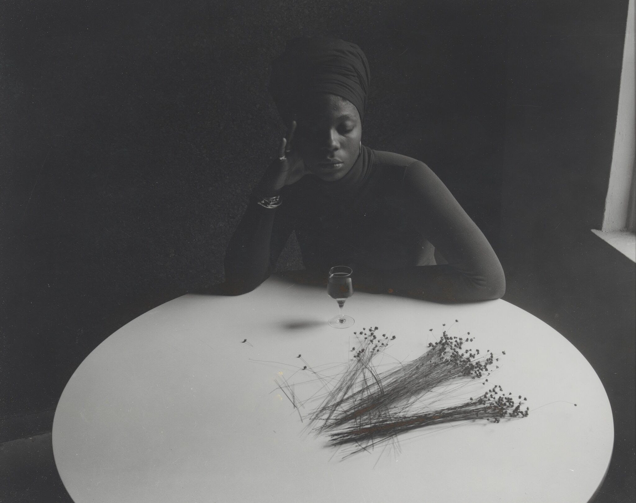 Ray Francis, Untitled (woman at table), 1960s–70s.