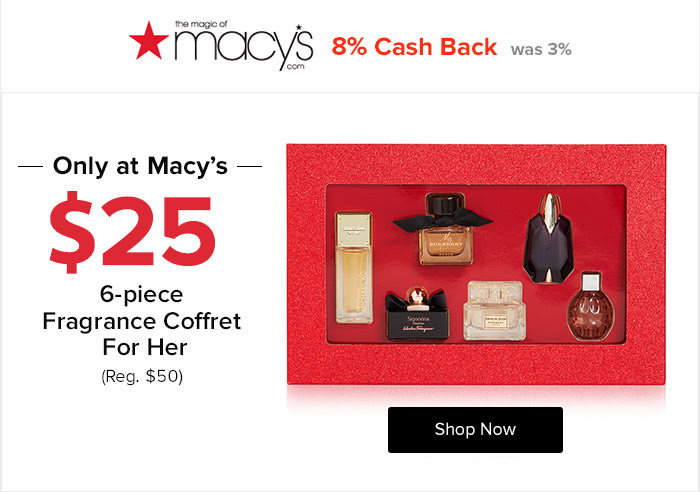 Macy's - 8% Cash Back