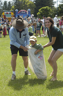 Wauchope sack races