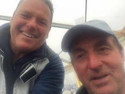 Stuart (left) and Kelvin (right)- winners of Rolex Fastnet Race IRC Doublehanded class