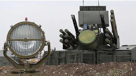 Un sistema antimisiles de la base militar de Jmeimim, Siria.
