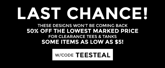 IMAGE: Clearance T-Shirts Starting Under $5.00 & FREE SHIPPING