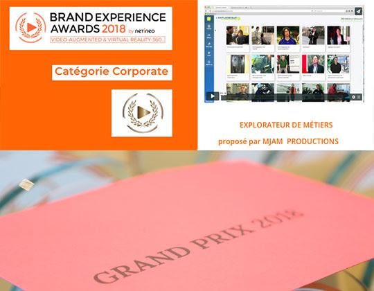 Explorateur de Métiers - Lauréat Brand Experience Award 2018