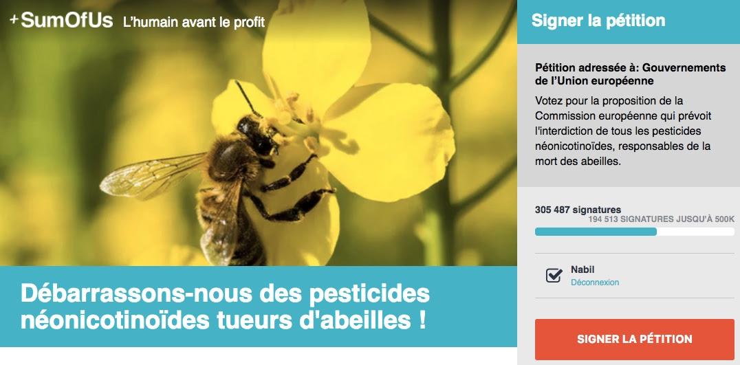 campagne contre les néonicotinoïdes en UE