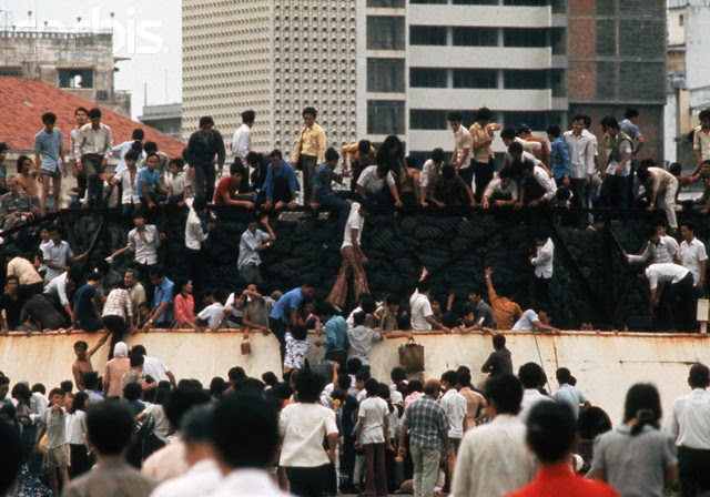 Refugees Fleeing Saigon