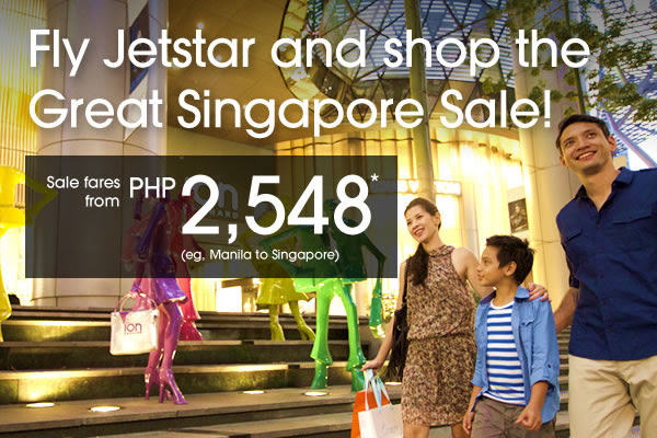 Fly Jetstar and shop the Great Singapore Sale!