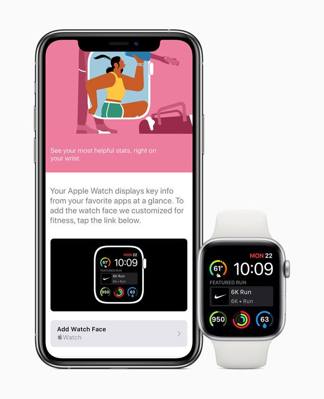 iPhone 11 Pro 與 Apple Watch Series 5 螢幕中顯⽰的 App Store。