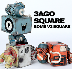 3Ago Bomb V2 Square Set of 3 Figures