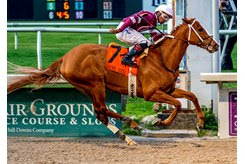 Finite wins the Rachel Alexandra Stakes at Fair Grounds Race Course