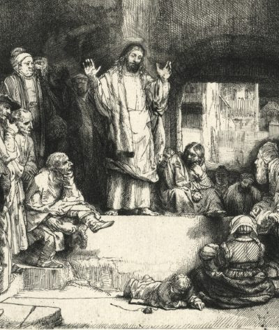 Christ Preaching (La Petite Tombe), Rembrandt, c. 1652