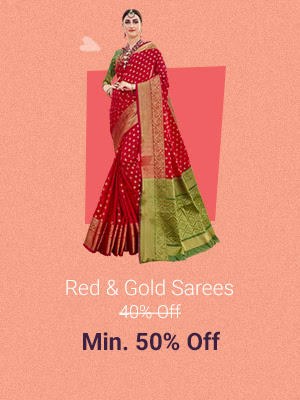 Red & Gold Dresses at Min.50% Off