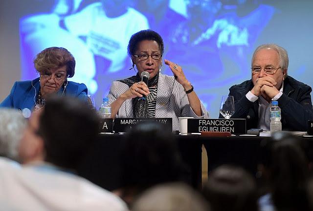 Presidente de la CIDH, Margarette May Macaulay, enfatizó la necesidad del Estado en la resolución de las violaciones  - Créditos: Carl de Souza/AFP