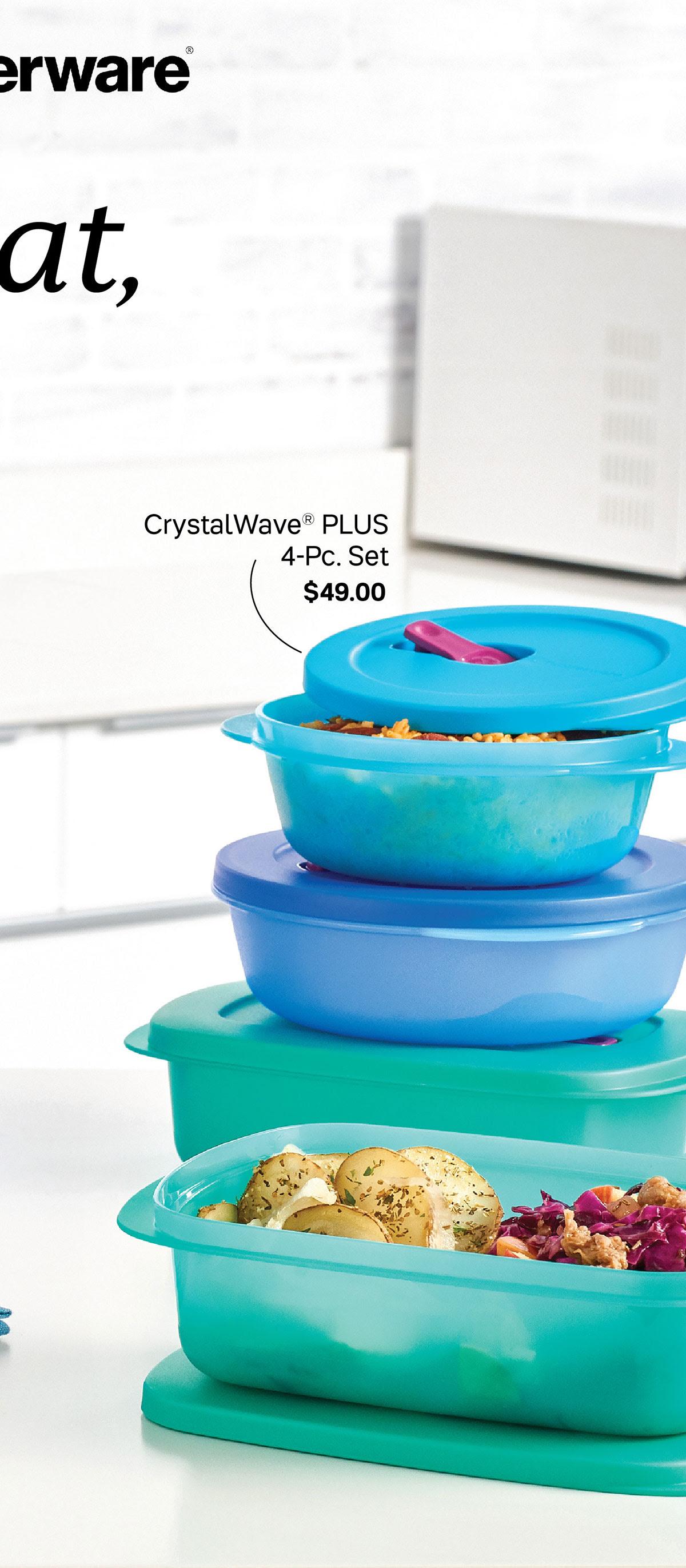 CrystalWave Plus 4pc set
