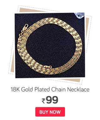 1 PC NEW Exquisite Men Women 20 Inches 18K Gold Plated Chain Necklace Jewelry
