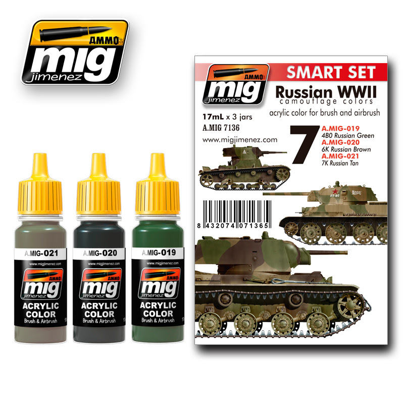 A.MIG-7136 RUSSIAN WWII COLORS Smart Set