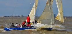 J/27s sailing Midwinters off New Orleans, LA