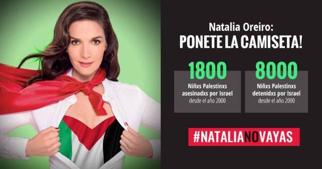 Comunicado ante la postergación de la actuación de Natalia Oreiro en Israel