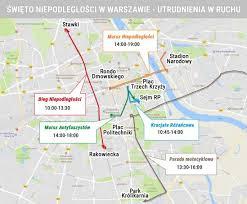 Image result for marsz niepodleglosci  mapa