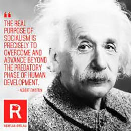 Albert Einstein: The real purpose of socialism