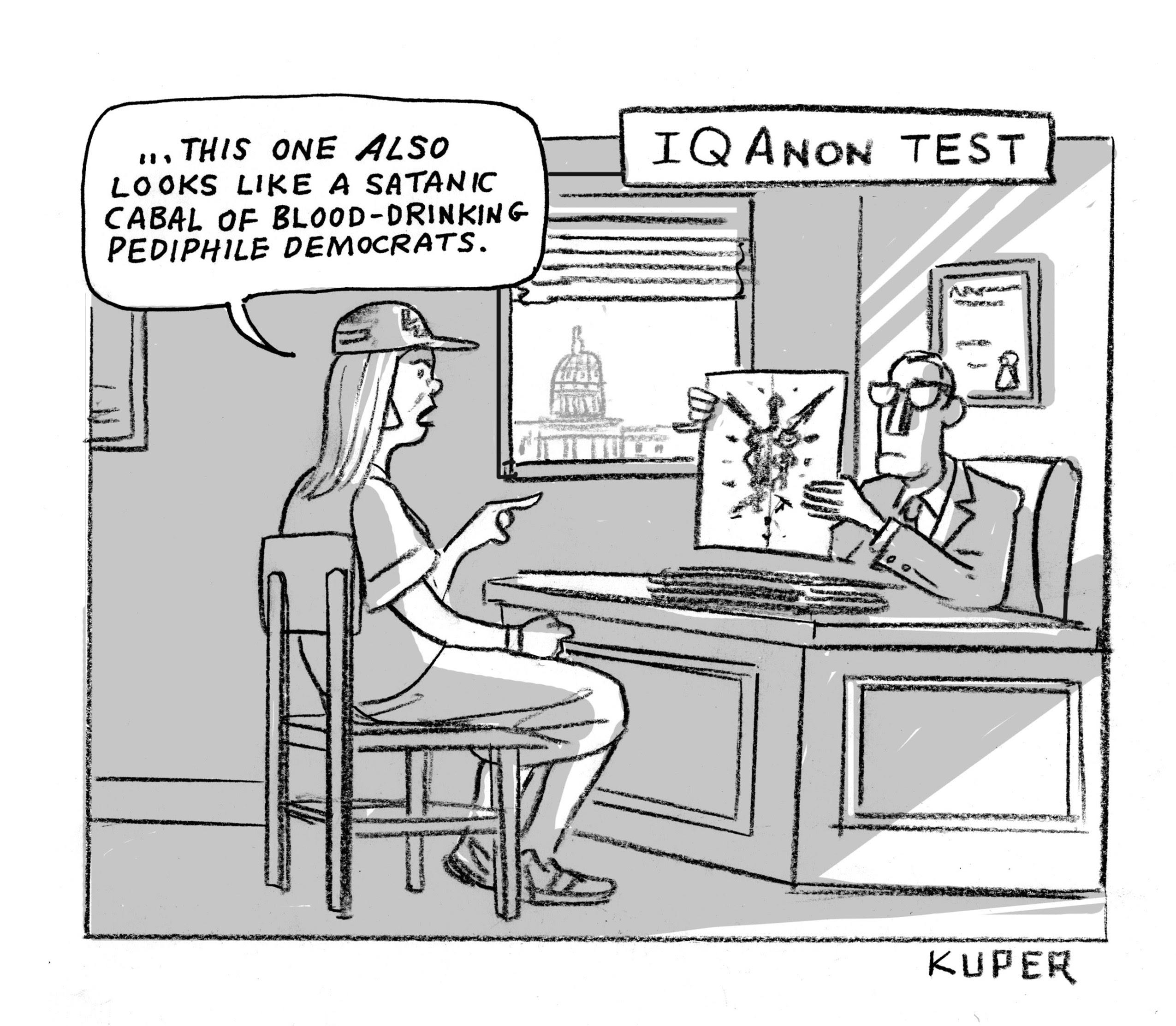 I Q Anon Test - Peter Kuper
