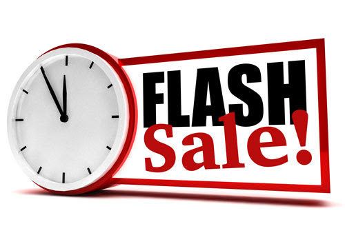 flash sale with clock