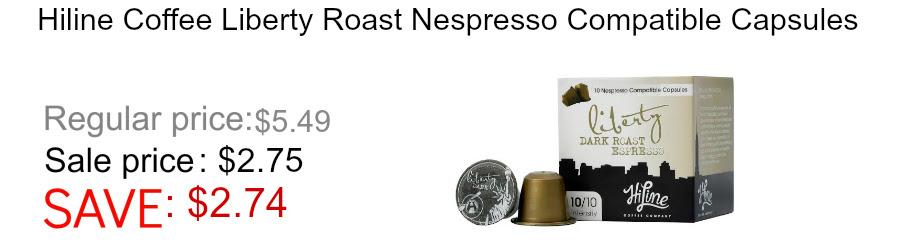 Hiline Coffee Liberty Lungo Nespresso compatible coffee
