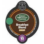 Green Mountain Breakfast Blend Decaf Kcarafe coffee pods