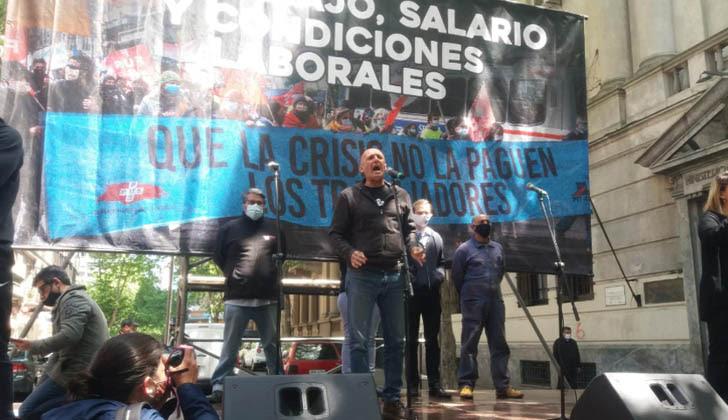Secretario general de la Federación Uruguaya de la Salud (FUS), Jorge Bermúdez. Foto: FUS.