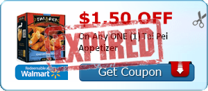 $1.50 off On Any ONE (1) Tai Pei Appetizer