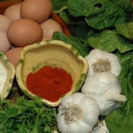 Día Gastronómica de la tortilla de espinacas con zumo