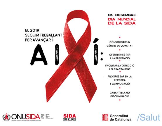 Cartell del Dia Mundial de la SIDA 2019