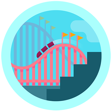 fitbit rollercoaster badge (125 floors!)