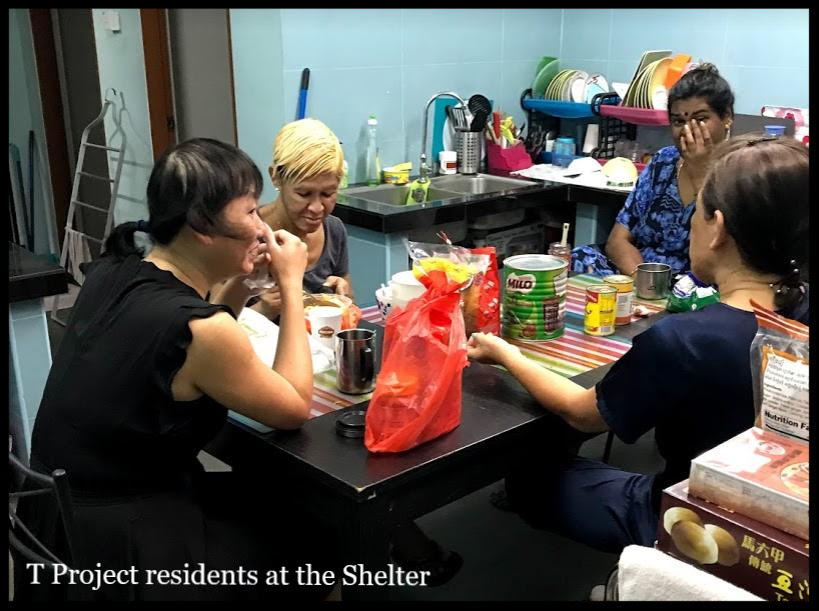 Residents at Shelter