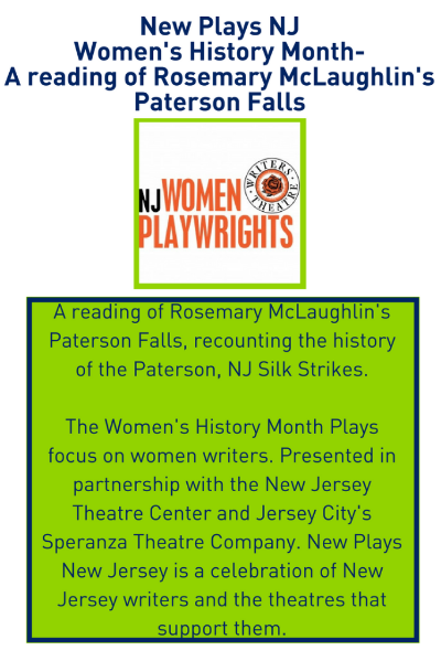 New Plays New Jersey, Women's History Month- A Reading of Rosemary McLaughlin's Paterson Falls presented by Writers Theatre of New Jersey