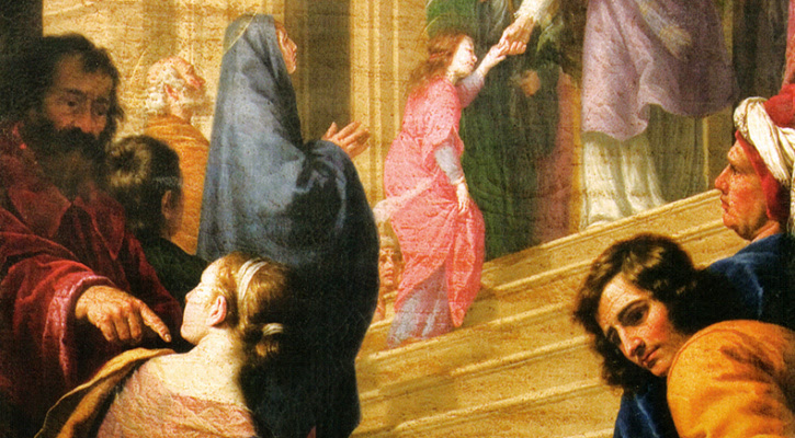 Painting titled Presentation of Mary in the Temple, by Alfonso Boschi